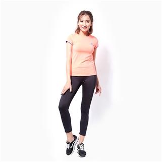 Nhóm Mua - Ao the thao nu tay ngan logo Adidas mau cam neon