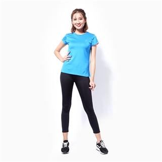 Nhóm Mua - Ao the thao nu tay ngan logo Adidas mau xanh dam