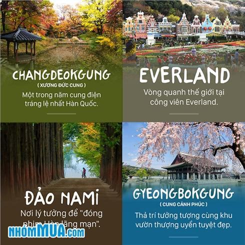 Tour xứ sở kim chi- Hàn Quốc- Seoul- Nami- Everland 5 Ngày