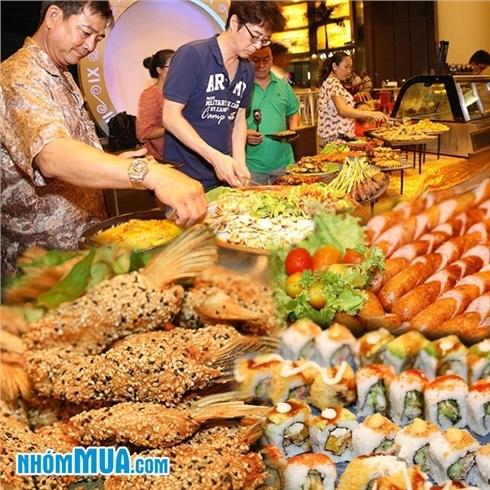 Buffet tối Teppanyaki + BBQ + Lẩu hơn 40 món ăn -Wabar Saigon