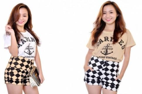 QUẦN SHORT CARO NỮ: Thiết kế với quần short lưng cao mang đến cho bạn nữ thêm thời trang và cá tính hơn.