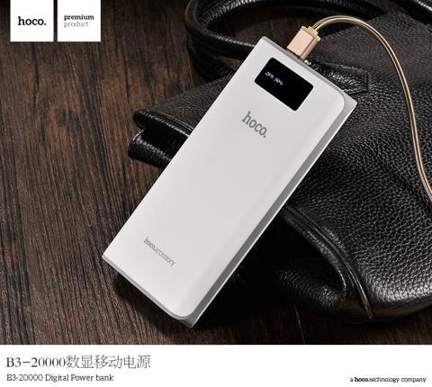 One More - Pin sac du phong Hoco B3 20000mAh LCD (Trang)
