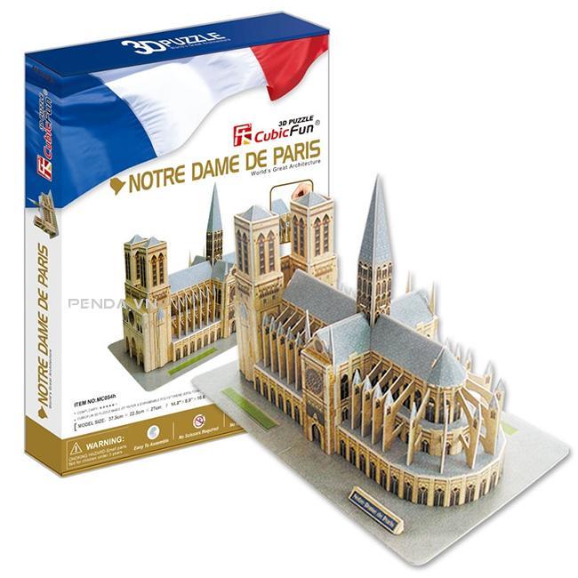 Xếp hình 3D – Nhà thờ Đức Bà Paris MC054h