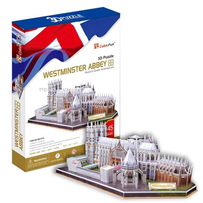 Xếp hình 3D – Tu viện Westminster (Anh) Mc121h