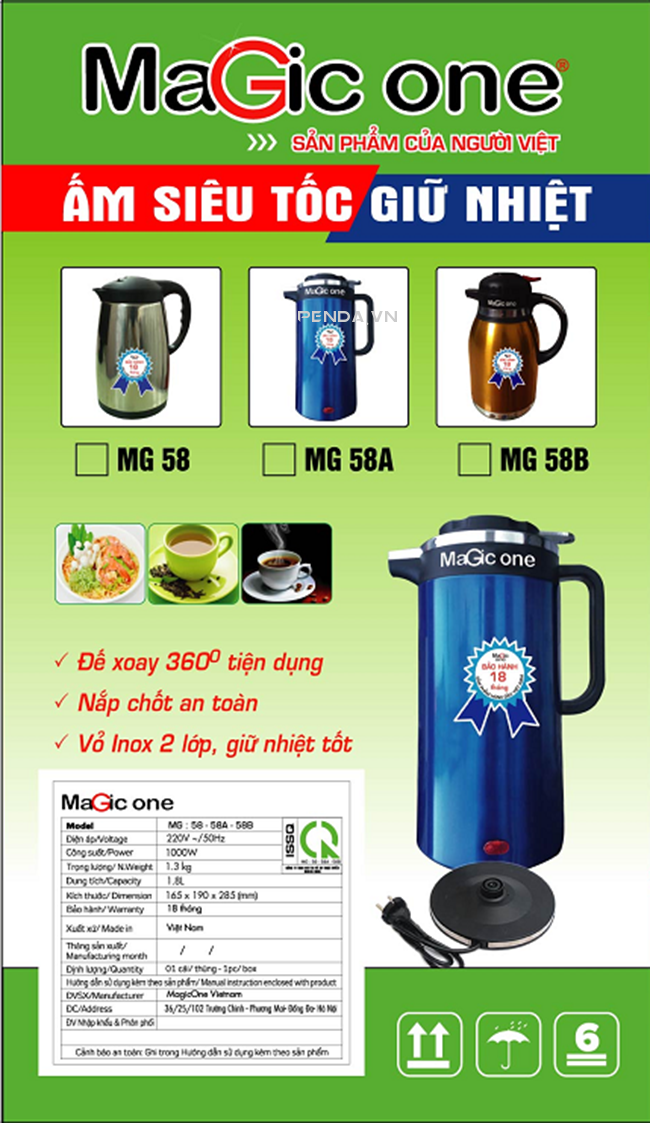Penda - Am sieu toc Magicone MG-58A