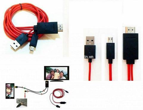 Phụ kiện Phát Đạt - Cap HDMI tu dien thoai samsung ra tivi
