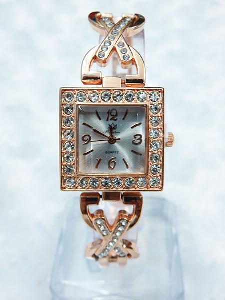 Đồng hồ nữ korea kim loại đính hạt 056 ( có hộp )