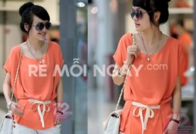 Áo chiffon Orange cực sành điệu