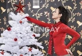 Cây thông Noel màu trắng cao 1m2