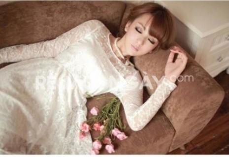 Đầm Ren công chúa dài tay