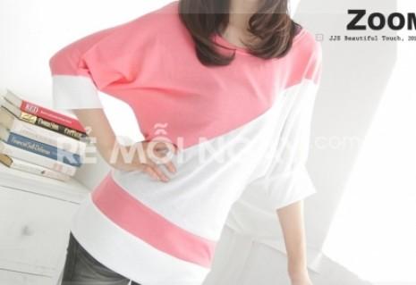 Áo cánh dơi mix colour Windy (chất liệu cotton 4 chiều)
