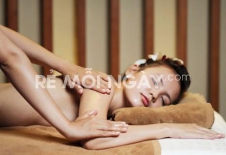 Massage body thư giãn + làm tan mỡ bụng bằng máy RF tại B&Y Spa