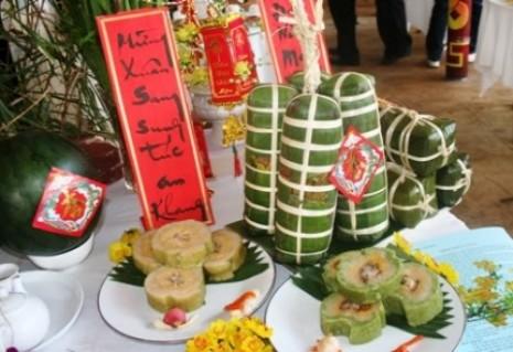 Bánh Tét Trà Cuốn- (2 bánh x 1kg/ 1 bánh)