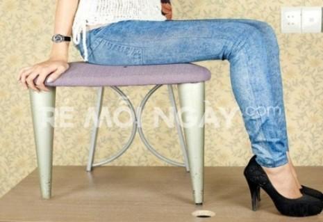 Quần legging giả jean