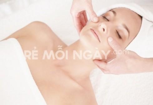 Massage mặt, siêu âm mặt, đắp mặt nạ pháp ( 90 phút) tại spa Trâm Anh