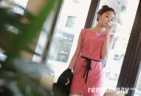 Đầm hồng thắt nơ Strawberry
