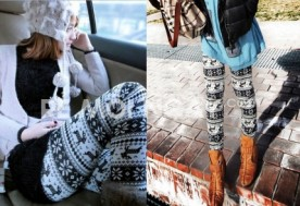 Legging hoa tuyết - 1 - Thời Trang Nữ