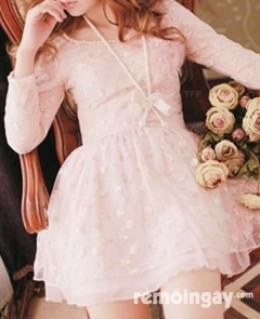 Đầm ren tiểu thư bella