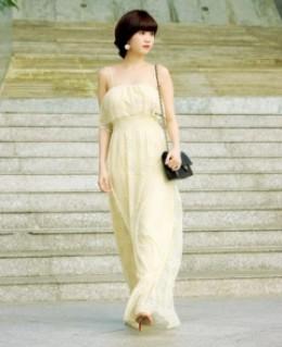 Đầm maxi ren