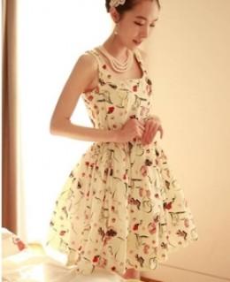 Đầm xòe Olina