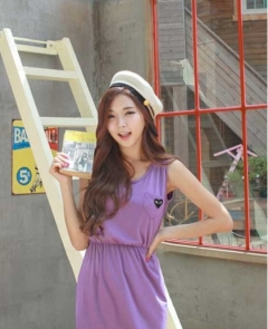 Đầm violet