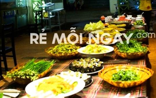 Buffet tối lẩu và nướng với 50 món tại nhà hàng Hương Đồng