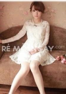 Đầm ren công chúa tay dài