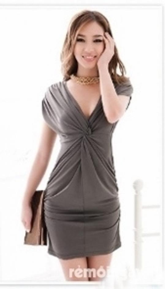 Đầm body thắt nơ lưng