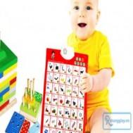 Bảng chữ cái điện tử treo thông minh chỉ 75.000 vnđ, giúp bé phát triển tư duy trí tuệ