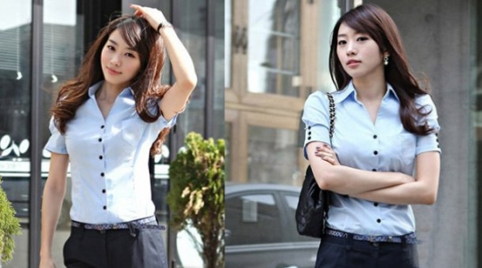Áo sơ mi công sở viền nút đen giá rẻ chỉ 115.000vnđ – cho bạn gái vẻ đẹp hiện đại ,trẻ trung, thanh lịch.