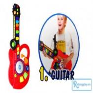 Bộ nhạc cụ 3 trong 1 (Guitar – DJ - Piano) âm điệu rock hay, lạ mắt, kích thích thị giác và thính giác cho bé với giá chỉ 107.000vnđ cho giá trị sử dụng 175.000vnđ