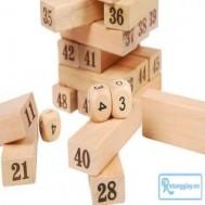 Bộ đồ chơi rút gỗ thể hiện trí tuệ, sự khéo léo với 48 miếng gỗ hình chữ nhật, 4 viên xí ngầu thỏa thích vui chơi cùng bạn bè, người thân với giá chỉ 75.000 vnđ cho giá trị sử dụng 210.000 vnđ
