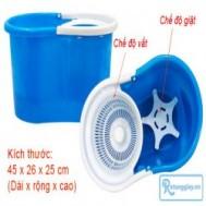 Bộ lau nhà 2 chế độ giặt + vắt 360 độ siêu sạch giúp tiết kiệm thời gian và công sức của bạn với giá chỉ 219.000 vnđ cho giá trị sử dụng 400.000 vnđ