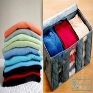 Túi vải 03 ngăn - Gọn nhẹ, dễ gấp và đa chức năng giúp bạn lưu trữ quần áo tiện lợi và tiết kiệm không gian căn phòng với giá chỉ 73.000 vnđ cho giá trị sử dụng 130.000 vnđ
