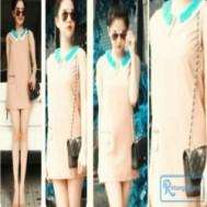 Đầm suôn cổ sen 2 lớp phối màu nổi bật giúp chị em thể hiện vẻ nữ tính mà còn khoe được đường cong quyến rũ của mình với giá chỉ 120.000 vnđ cho giá trị sử dụng 280.000 vnđ