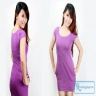 Đầm sọc ngang thời trang chất liệu thun ôm sát body với giá chỉ 60.000 vnđ cho giá trị sử dụng 150.000 vnđ