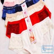 Combo 5 quần lót ren với họa tiết hoa ren sexy cho vòng 3 các bạn gái thêm nuột nà và gợi cảm với giá chỉ 54.000 vnđ cho giá trị sử dụng 110.000 vnđ