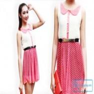 Đầm chấm bi cổ sen cho bạn gái thêm xinh tươi rực rỡ với giá chỉ 95.000 vnđ cho giá trị sử dụng 240.000 vnđ