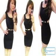 Đầm khoét eo gợi cảm, quyến rũ tôn đường nét hấp dẫn, trẻ trung với giá chỉ 140.000 vnđ cho giá trị sử dụng 280.000 vnđ
