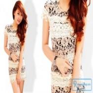Đầm tầng ren nổi mang lại vẻ trẻ trung, tươi tắn cho bạn gái với giá chỉ 142.000 vnđ cho giá trị sử dụng 230.000 vnđ