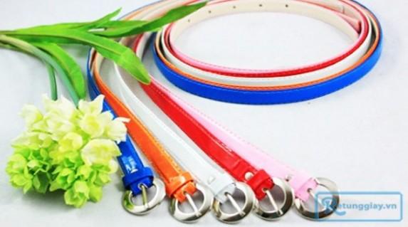 Combo 5 dây nịt nữ colorblock với màu tươi sáng tô điểm cho phong cách thời trang của bạn mỗi ngày với giá chỉ 66.000 vnđ cho giá trị sử dụng 100.000 vnđ. Giá cực rẻ chỉ có tại Retunggiay.vn!