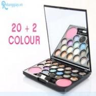 Phấn mắt trang điểm 22 màu Versace chỉ 79.000 vnđ gồm 20 màu mắt, 2 màu má hồng