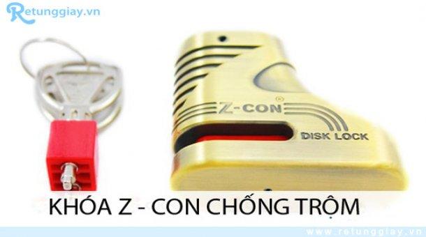 Khóa phanh đĩa xe máy Z-con giá chỉ 105.000 vnđ chống trộm an toàn cho xế yêu. Giá cực rẻ chỉ có tại Retunggiay.vn!