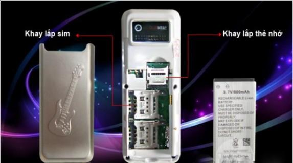 """Điện thoại """"độc"""" 2 sim -2 sóng A6 : 370.000 vnđ với kiểu dáng siêu nhỏ ,vỏ kim loại siêu bền .giá cực rẻ tại Retunggiay.VN !"""