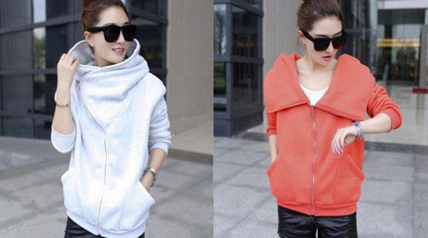 Áo khoác cổ cao Hàn Quốc Hoodie giá rẻ chỉ có 135.000 vnđ