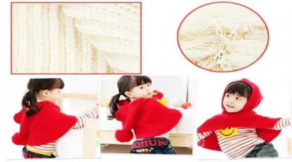 Nón len áo choàng dành cho bé rất dễ thương rất thích hợp cho bé từ một tuổi trở lên, chỉ với 89.000 VNĐ tại Rẻ Từng Giây! - Thời Trang Trẻ Em