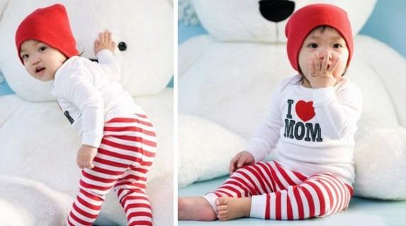 Bộ đồ thun I Love Mom là món quà thiết thực, đáng yêu dành tặng cho bé từ 8 tháng tuổi tới 5 tuổi dịp tết này bạn nhé, chỉ với 68.000 VNĐ tại Rẻ Từng Giây!