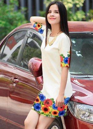 Rẻ Từng Giây - Dam suong hoa tiet hoa 3D gia re chi co 175.000d