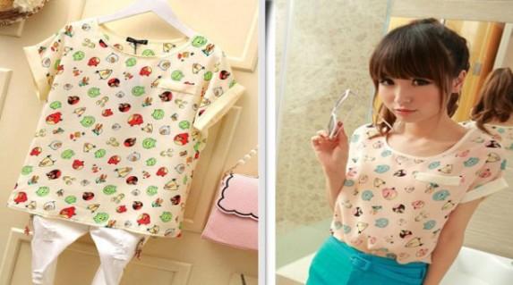 Áo voan Angry birds thời trang chỉ 70.000 vnđ.Cho bạn gái thêm xinh với phong cách mới mẻ ,Giá cực rẻ chỉ có tại Retunggiay.vn !R2017