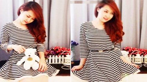 Đầm sọc ngang thời trang có ren với giá 99.000 vnđ.Giúp bạn gái dịu dàng và nữ tính với giá cực rẻ chỉ có tại Retunggiay.Vn !